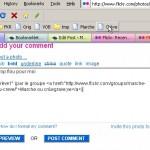 ...le bookmarklet insère le texte, le tag (en principe), et valide le tout...